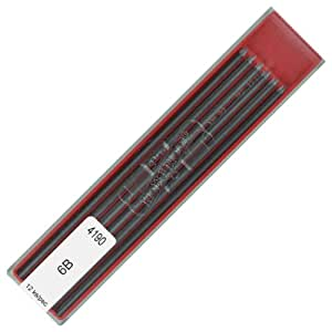 Koh-i-noor 4190 6B 2.0 mm Graphite Leads for Technical Drawing and Retouching.