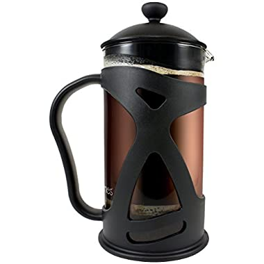 KONA French Press Coffee Tea & Espresso Maker, Black 34oz Teapot