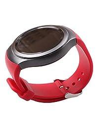 SODIAL(R) Luxury Silicone Watch Band Strap for Samsung Galaxy S2 Gear SM-R720 red
