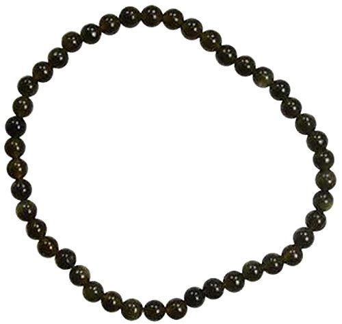 Womens Jewelry Bracelet Black Obsidian 4mm Beads Wear To Protect Against Abuse or Negativity for $<!--$6.30-->