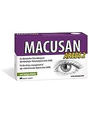 Macusan AREDS2 Plus supplementen voor de ogen | Tabletten voor de leeftijdsgebonden maculaire gezondheid | Verhoog het traanvochtniveau snel met ginkgo biloba | Geschikt voor AMD na late vaststelling | Oogcomplex met luteïne | Supplementen voor AMD