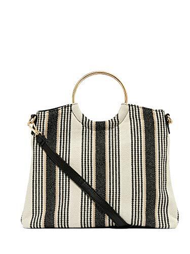 (New York & Co. Women's Stripe Foldover Clutch 0 Stripes-Multi )