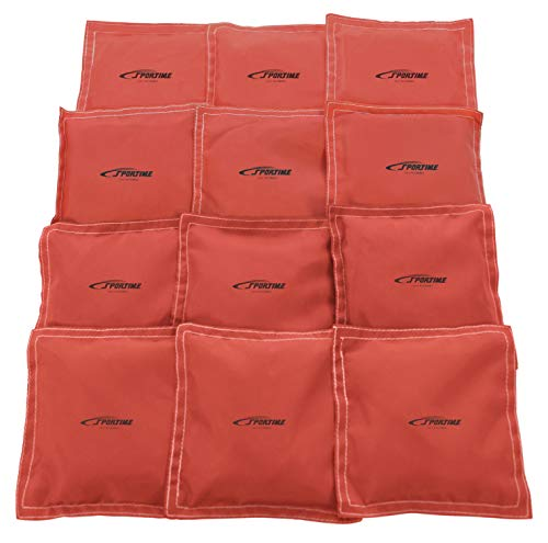 Sportime 5 x 5 Inch Nylon-Covered Beanbags,