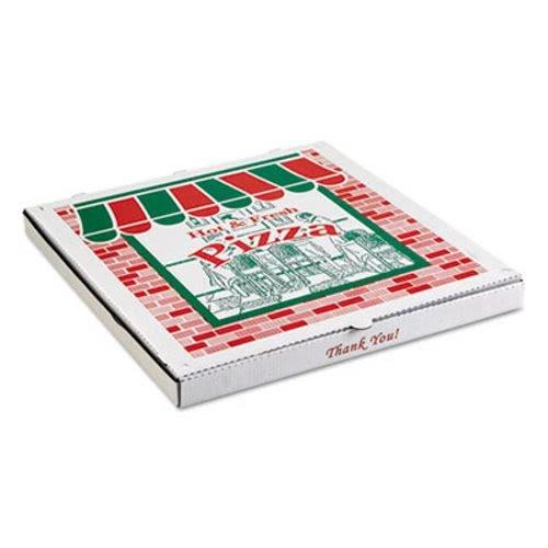Corrugated Pizza Box - ARVCO Corrugated Pizza Boxes, Kraft/White, 8 x 8 - Includes 50 pizza boxes.