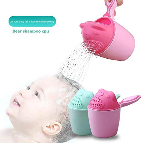 SUNMART USA Cute Cartoon Bear Baby Bathing Cup Newborn Kids Shower Shampoo Cups Bailer 1