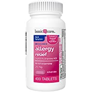 Basic Care Allergy Relief Diphenhydramine HCl Tablets, 400 Count