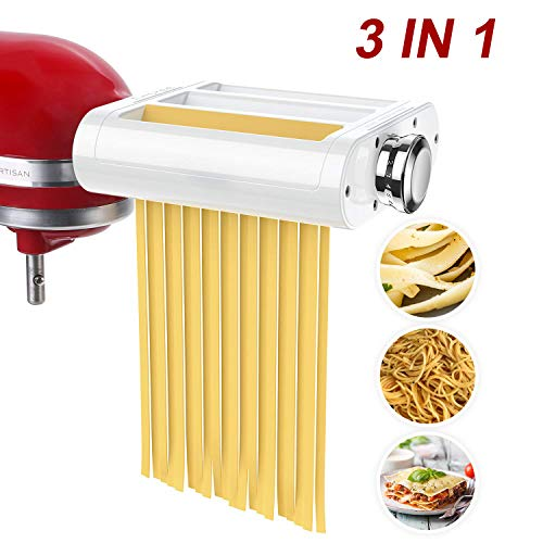 ANTREE Pasta Roller & Cutter Attachment 3-in-1 Set for KitchenAid
