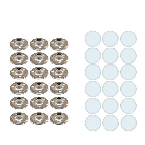 CozYours Candle Wick Sustainer TABS with Candle Wick Stickers for Candle Making, 50/50 pcs: Candle DIY.