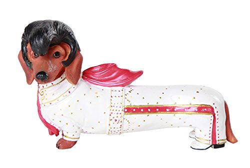 Adorable Elvis the King Doxy Collection Cute Dachshund Weiner Dog Collectible