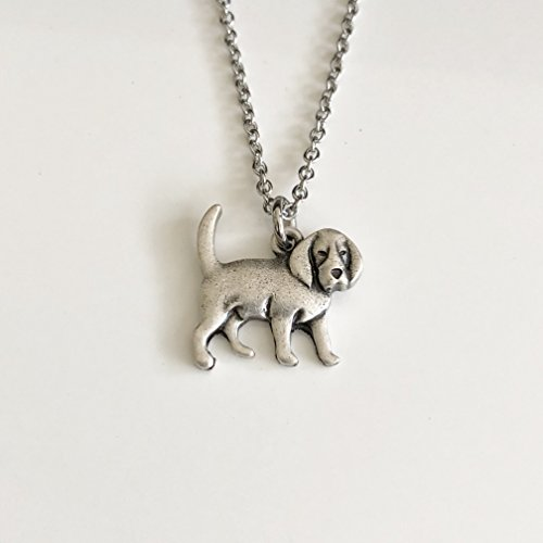 Beagle Dog Necklace - Hound Dog Pendant on Stainless Steel Chain - Dog Mom Gift