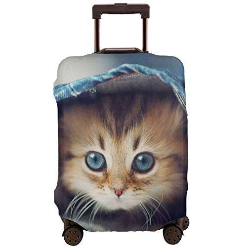 Travel Luggage Protective Covers Cat Elastic Zipper Thickened Resistant Scratch Dust Proof Washable Suitcase Cover -