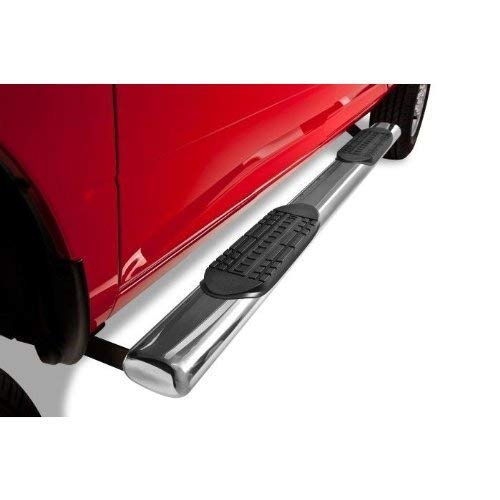 Span 5-inch Oval Tube S-S Side Step Rails Nerf Bar Running Boards/Fit 02-08 Dodge Ram 1500 03-09 2500,3500 Quad,Crew Cab