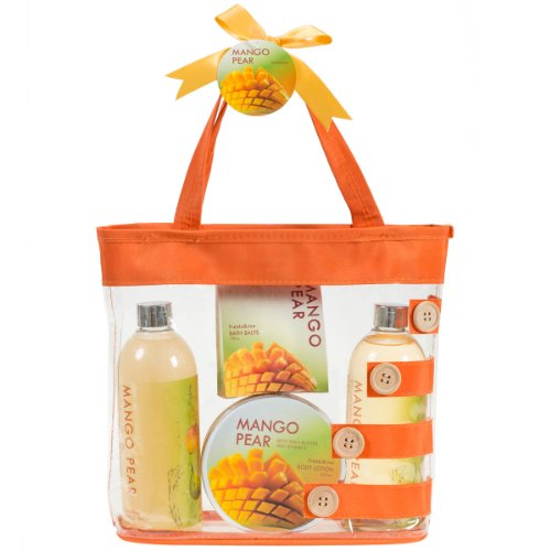 Mango Pear Orange Tote Spa Gift Set