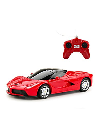 Rastar 1/24 RC Car Ferrari LaFerrari, Radio Remote Controlled Vehicle for Kids Adults, Hobby Toy, Red