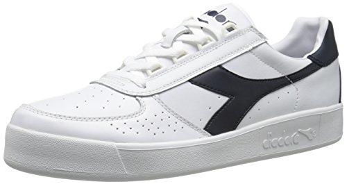 Diadora B. Elite Tennis Shoe,White/Blue Denim/Blue Denim,...