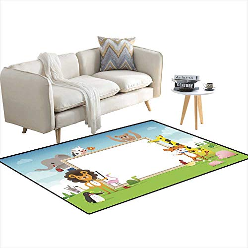- Room Home Bedroom Carpet Floor Mat Animal Cartoon Frame Border Template with whiteboard 55