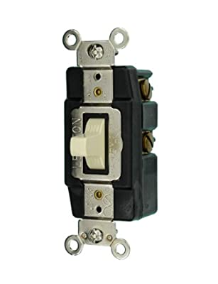Leviton 20-Amp Toggle Single-Pole AC Quiet Switch