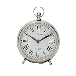 Deco 79 40681 Well-Made Metal Table Clock, 6 W x 7 H