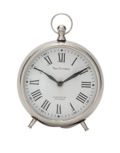 Deco 79 40681 Well-Made Metal Table Clock, 6