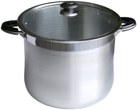 Professional Commercial Grade Heavy Duty 24-Quart Wide Stock Pot // Sauce Pot with Lid Stainless Steel