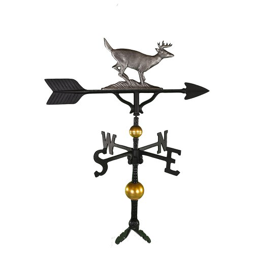 Montague Metal Products 32-Inch Deluxe Weathervane with Swedish Iron Buck Ornament