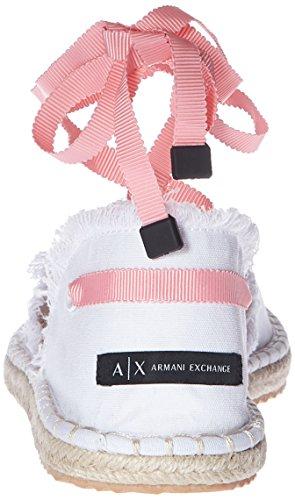 Armani Canvas Exchange Exchange Exchange Espadrilles A X White Armani Womens Canvas Armani Espadrilles ASqwWAIXzY