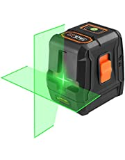 Nivel Láser Verde, Tacklife SC-L07G Nivelador Autonivelante cruzado de 35m, Láser de líneas automática 110° horizontal/vertical,IP54, un soporte magnético