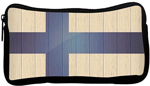 Rikki Knight Finland Flag on Distressed Wood Neoprene Pen...