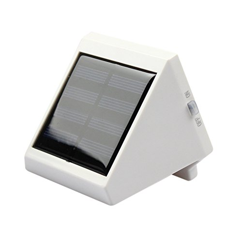 Price comparison product image KingTo Solar Powered Outdoor LED waterproof Light for Garden,Fence,Villa wall,wall lamp triangle light(White)