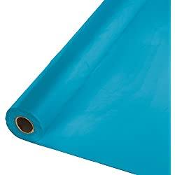 Creative Converting Roll Plastic Table Cover, 100-Feet, Turquoise