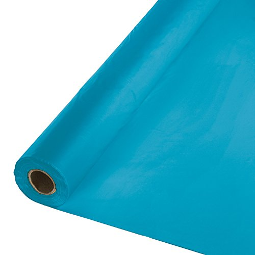 Creative Converting Roll Plastic Table Cover, 100-Feet, Turquoise -