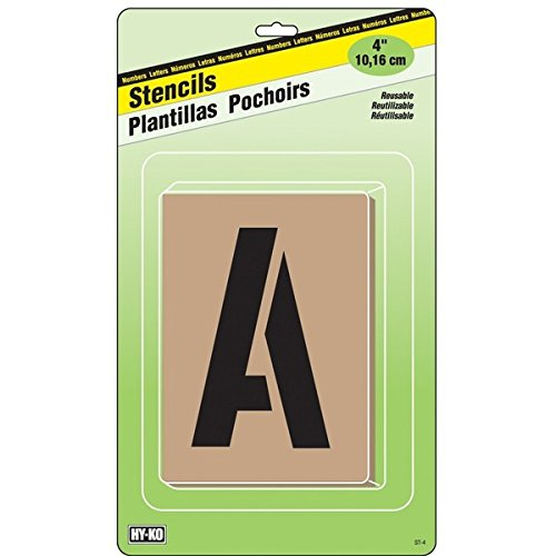 """Hyko Products Co 27550398 Stencil Kit 4"""" - Letters & Numbers from HyKo Products Co (FLHWR)"""