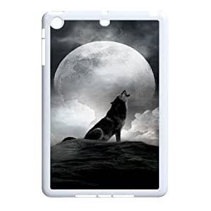 Wolf And Moon Pattern Hard Case Cover for iPad Case Mini HSL469107