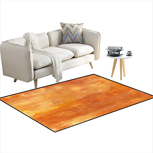 - Anti Skid Rugs Abstract Acrylic Golden backgrountexture 4'x12'