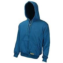 Radians DCHJ069B-M Dewalt 20V/12V MAX Heated Blue Fleece Hoodie, Medium