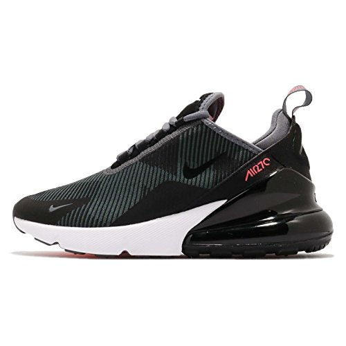 (Nike Kid's Air Max 270 KJCRD GS, Dark Grey/Black-HOT Punch, Youth Size 6)