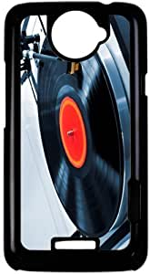 Rikki KnightTM Vinyl Record on Turntable - Black HTC ONE X Case Cover for HTC ONE X by ruishername