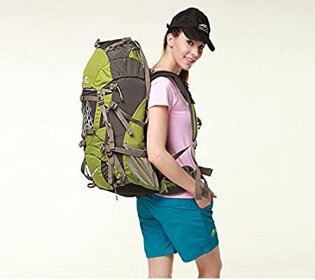 0db23498cb8b Amazon.com : TopSky 60L External Frame Backpacks Suspended Air ...