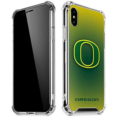 Skinit Oregon Ducks Green Gradient iPhone Xs Max Clear Case - Officially Licensed Fermata College Phone Case Clear - Transparent iPhone Xs Max Cover (Ducks Phone Cover Oregon)