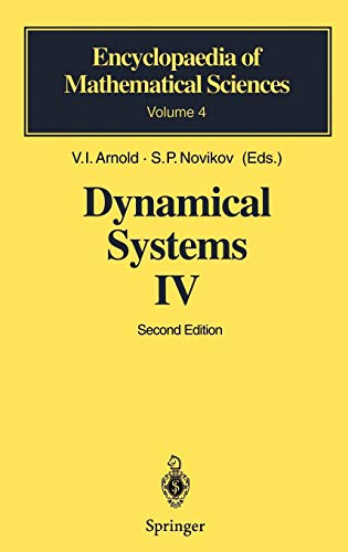 Dynamical Systems IV: Symplectic Geometry & Its Applications (D&g Im Online-shop)