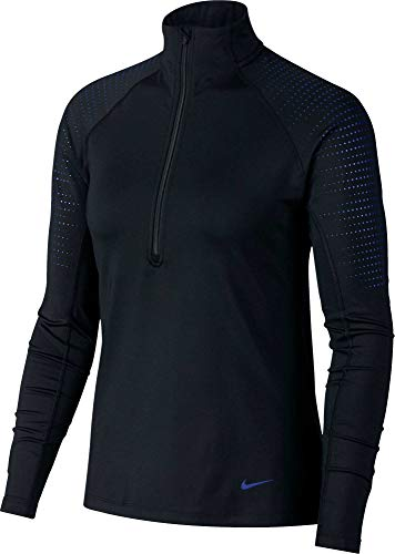 Nike Women's Pro Warm Half-Zip Training Pullover (S, - Top Zip L/s Half