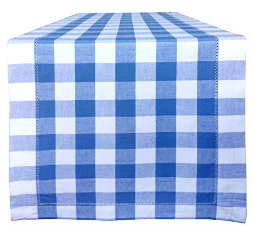 light blue and white table runner - 6