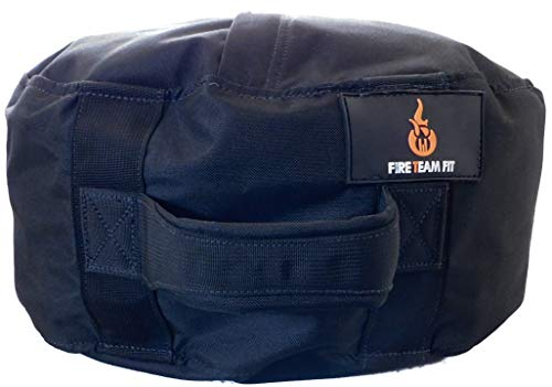 Fire Team Fit SpotFire Sandbag Bag 100#, Soft Atlas Stone Bag for Lifting, Workout Sand Bag (Black, 100#)