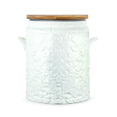 Twine Pantry Textured Ceramic Cookie Jar, White