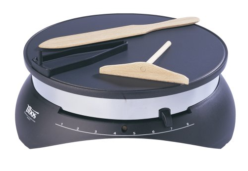 (Tibos CEBPB2 13.75-Inch Round Electric Single Crepe Maker, 110-Volts,)