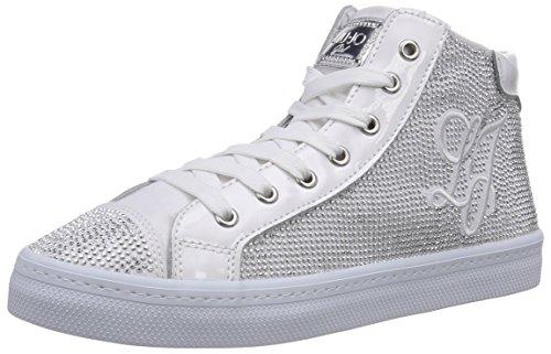 Blanc Bianco Weiß Sneaker Baskets Liu hautes fille Jo 0pYxAX