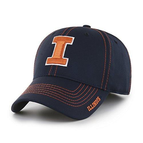 NCAA Illinois Fighting Illini Adult Start Line Ots Center Stretch Fit Hat, Large/X-Large, ()