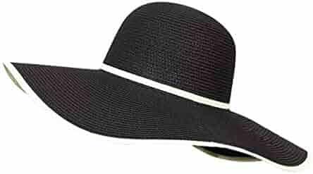 a6cc9e2c958 JOYEBUY Women Lady Wide Brim Summer Straw Hat Foldable Roll up Beach Cap Sun  Hat