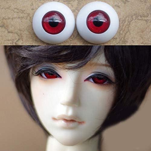 アリスの人形屋深い赤人形目 Plasit Bjd Bjd 人形おもちゃ sd 眼球 1/3 1/4 1/6 8 ミリメートル 14 ミリメートル 16 ミリメートル 18 ミリメートル 20 ミリメートルアクリル目人形