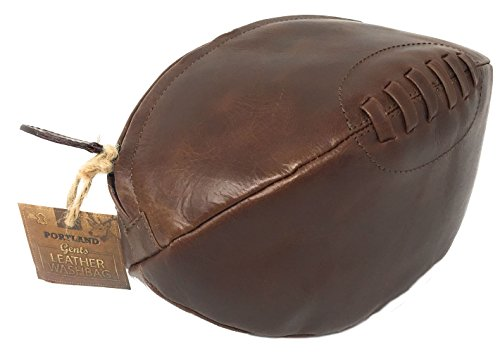 Leather Rugby Washbag by BeautyLand